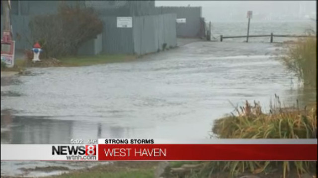 Storm Causes Flooding In West Haven