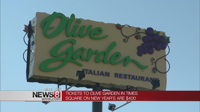 Pay $400 to party at Olive Garden on New Year\'s Eve - WTNH