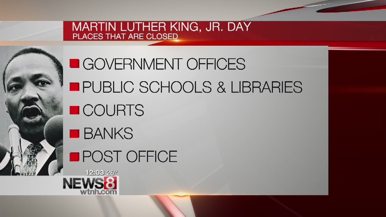 whats open on martin luther king jr holiday