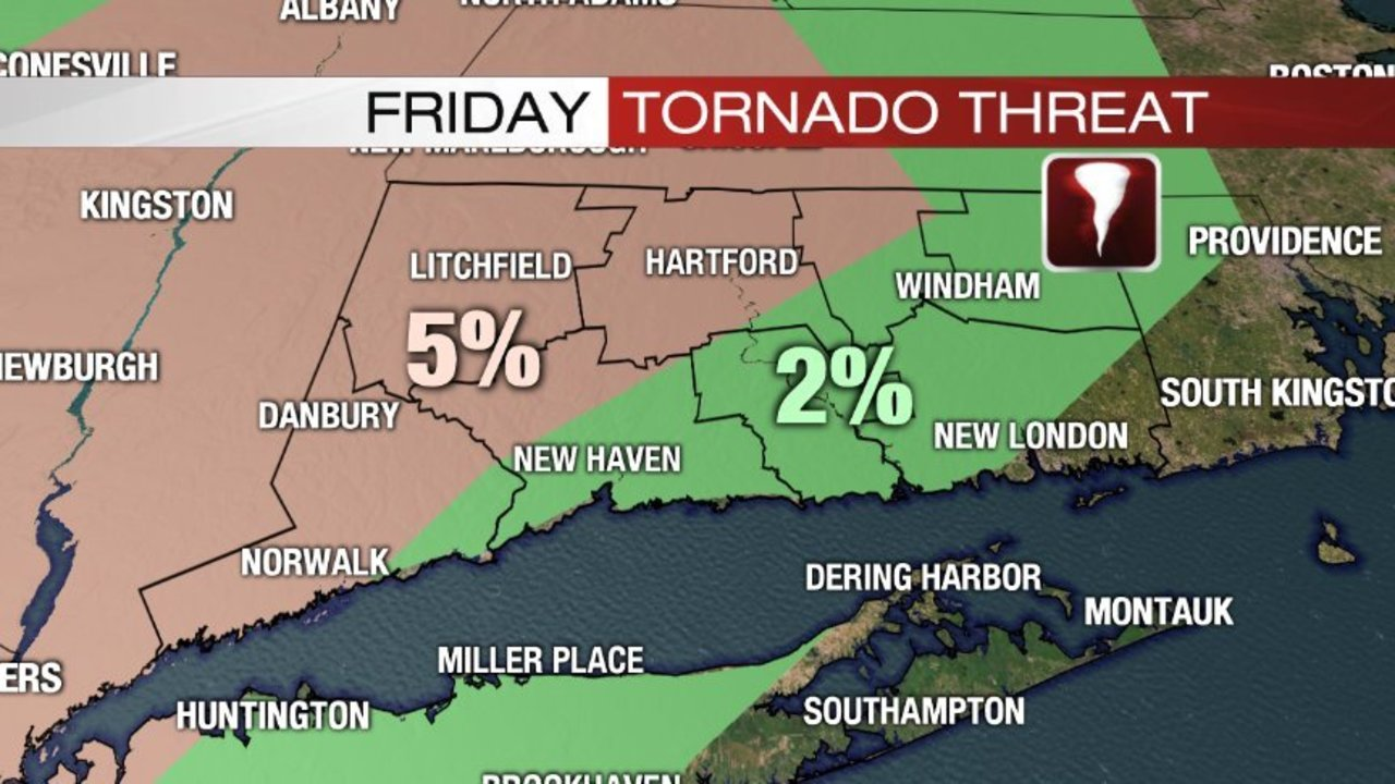 Tornado Watch Issued For Connecticut Counties