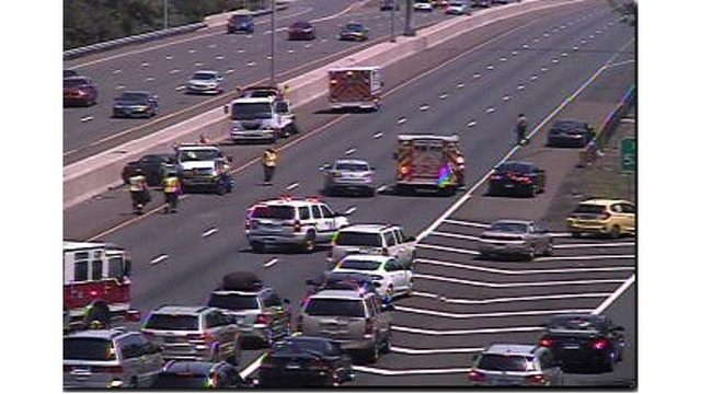 I-95 reopens in Branford after crash, highway still congested
