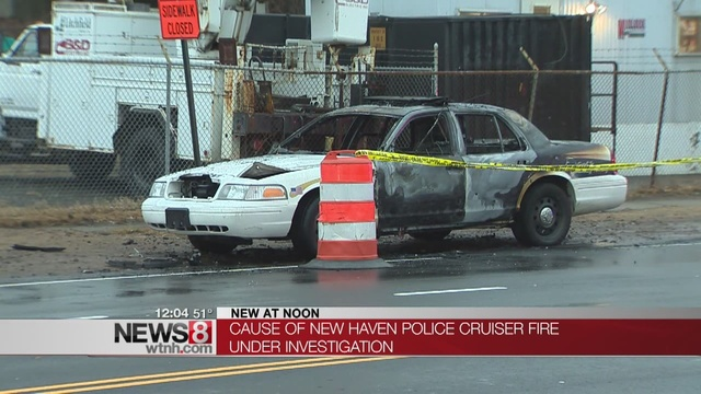 Officer Safely Escapes New Haven Police Cruiser Fire
