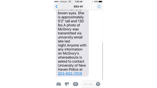 Missing University of New Haven student found safe