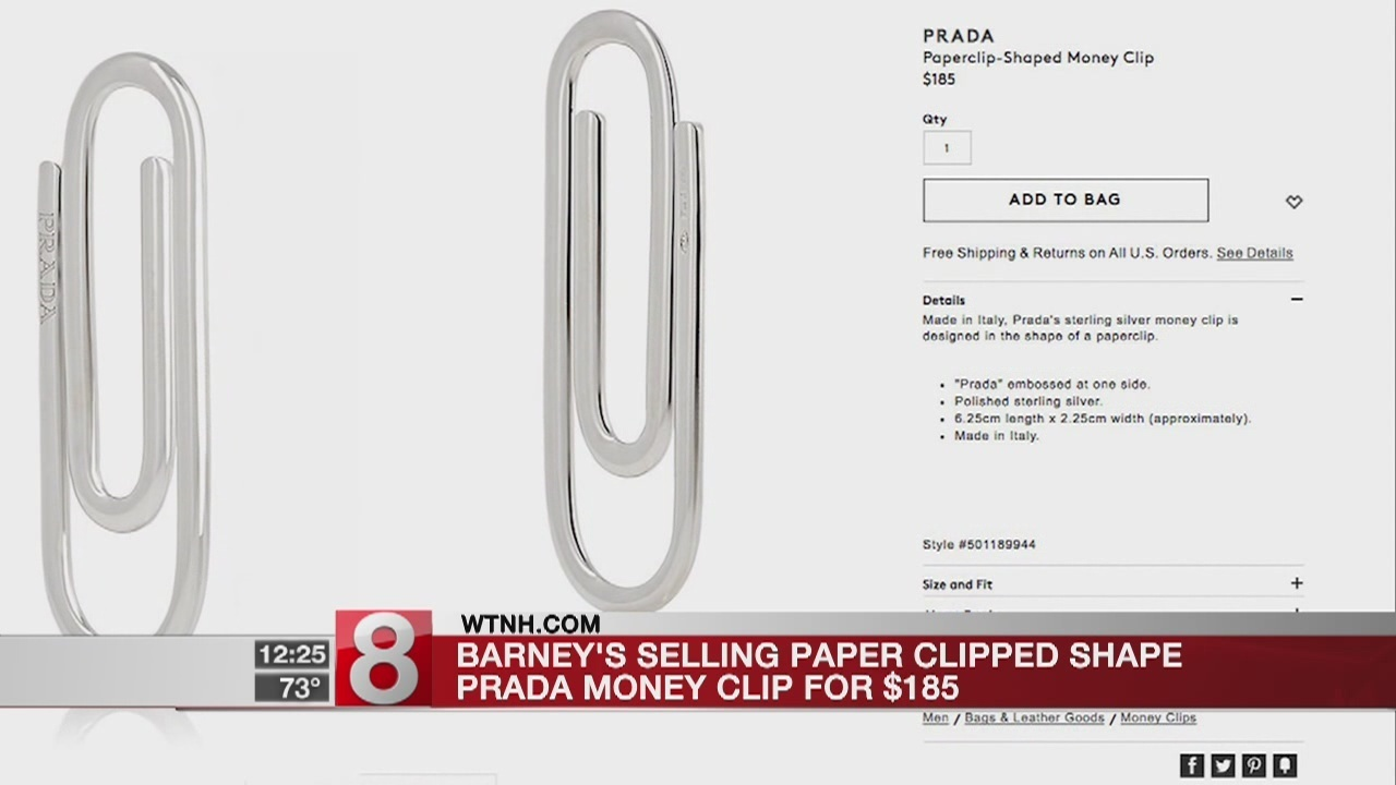 6b8ac63495b5a3 Prada is selling a paper clip for $185, and people aren't taking it well
