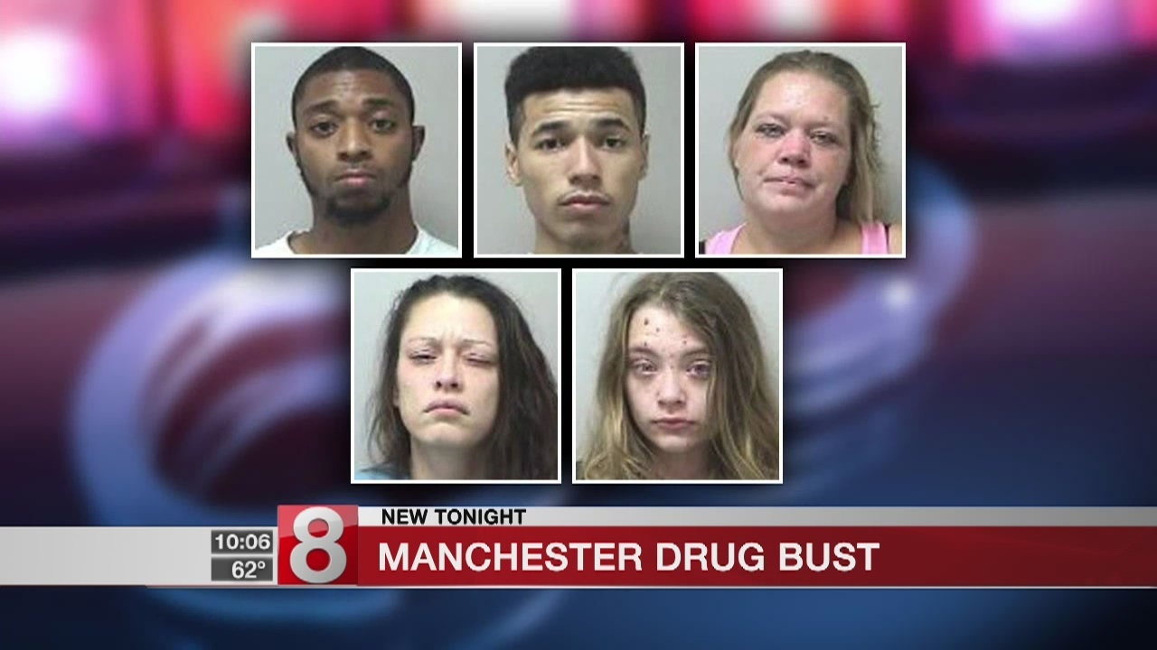Five charged in Manchester drug bust