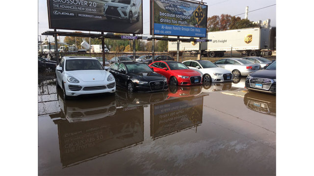 Fire Hydrant Crash Leads To Flooding At Wallingford Car Dealership - Audi wallingford