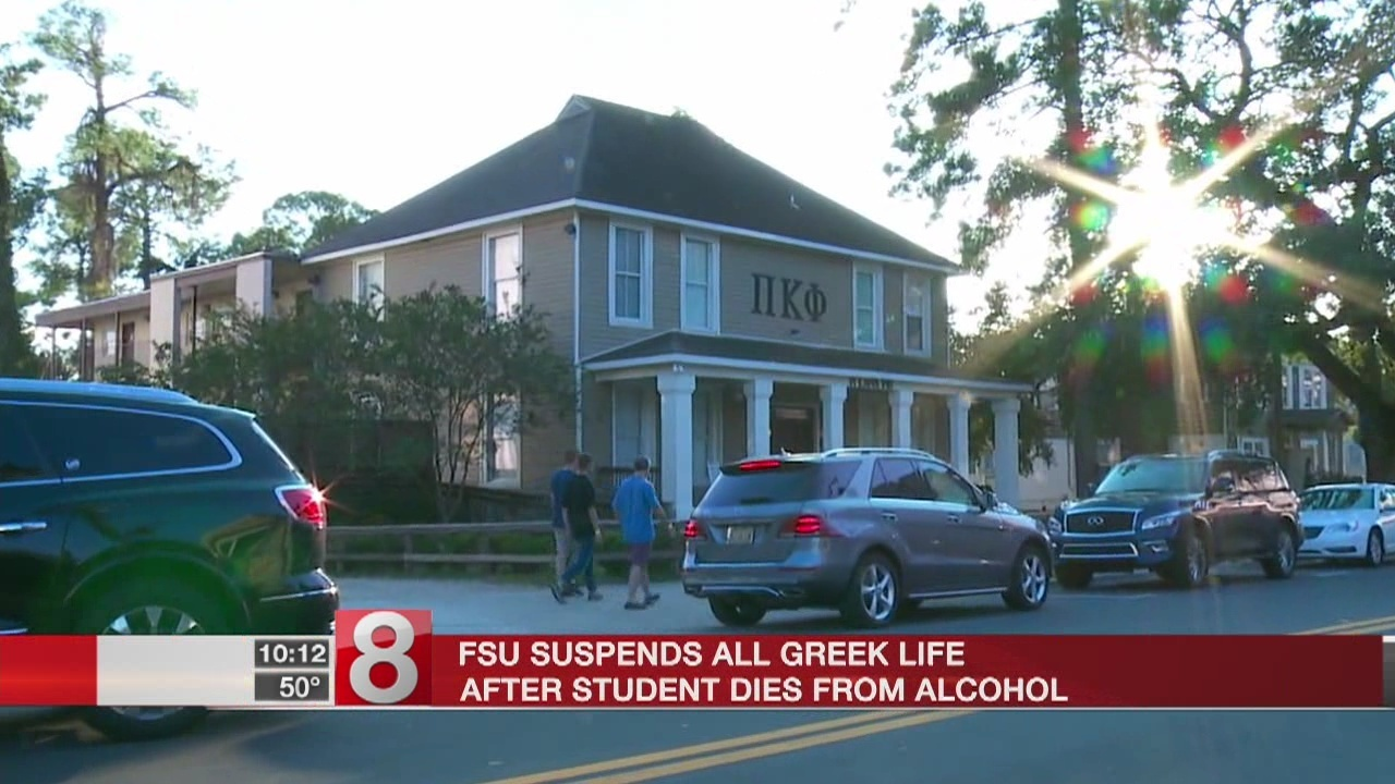Florida State suspends Greek life following alcohol death