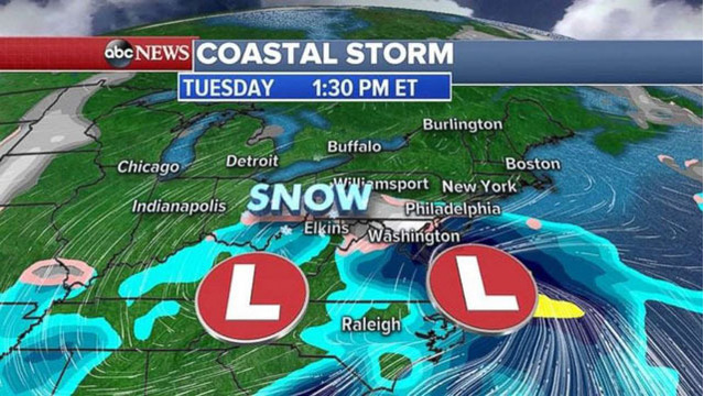 Large storm system to bring severe weather to South; East Coast ...