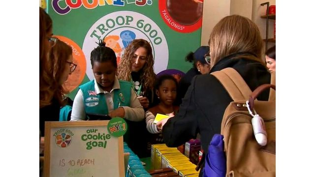 Girl Scouts Experiencing Homelessness Hold Their First Cookie Sale In NYC