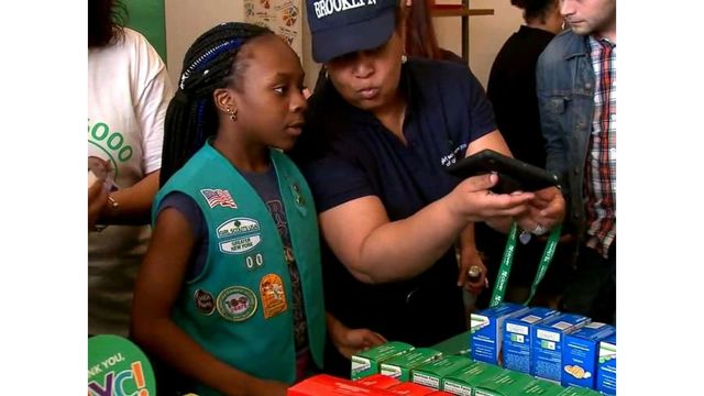 Homeless Girl Scout troop holds first-ever cookie sale
