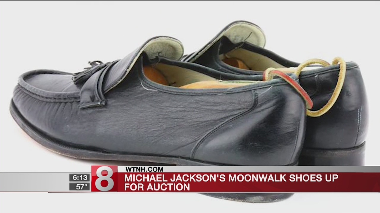 04898fbb6a2 Michael Jackson s famous moonwalk shoes are going up for auction