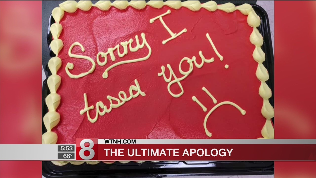 Sorry I tased you!\': Police officer apologizes to firefighter with ...