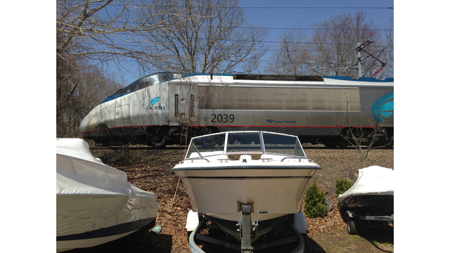 amtrak train stopped on branford tracks for multiple hours due to