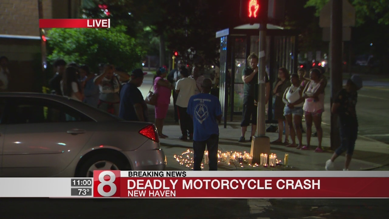 one person dead in motorcycle crash in new haven