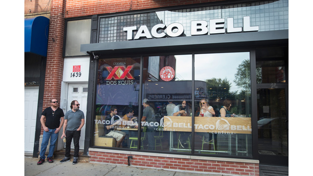 New Haven to get a Taco Bell with a bar