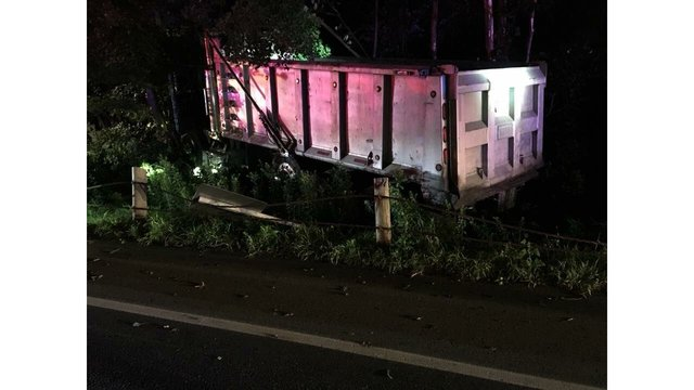 Route 190 reopens in Enfield after truck accident