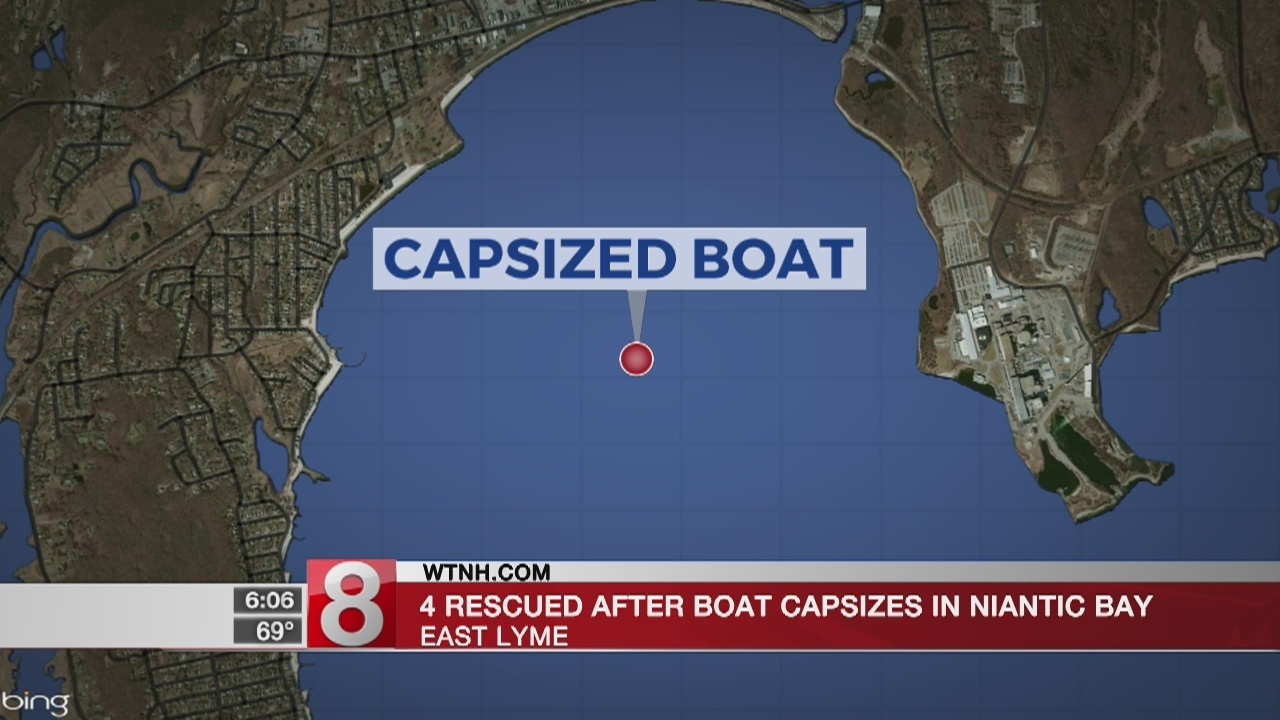 Four People Rescued After Boat Capsizes In Niantic Bay