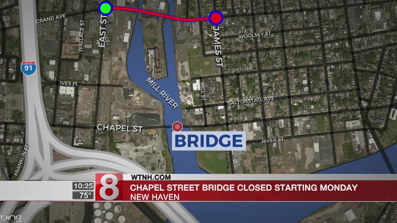 Construction To Close Chapel Street Bridge In New Haven For 8 Weeks