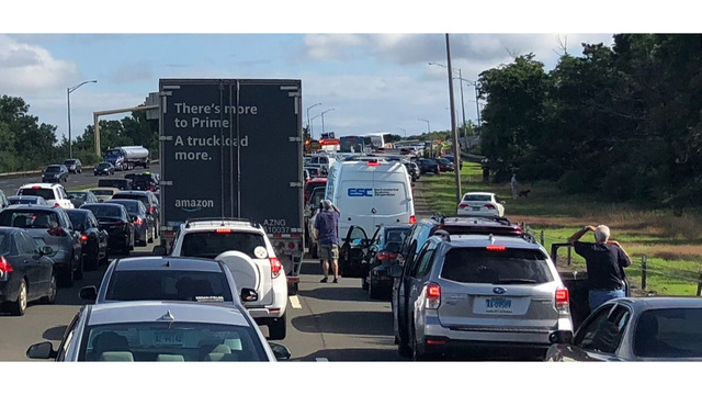 Crash involving motorcycle closes portion of Interstate 91