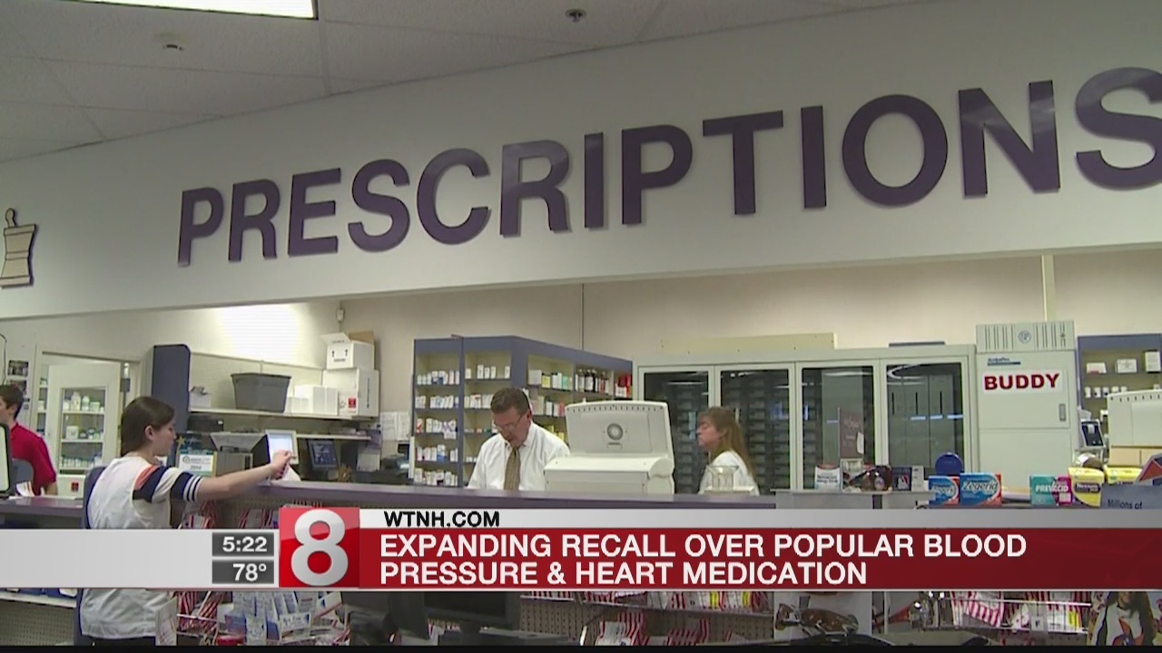Recall expanded world wide for certain blood pressure medicines due to  cancer risk
