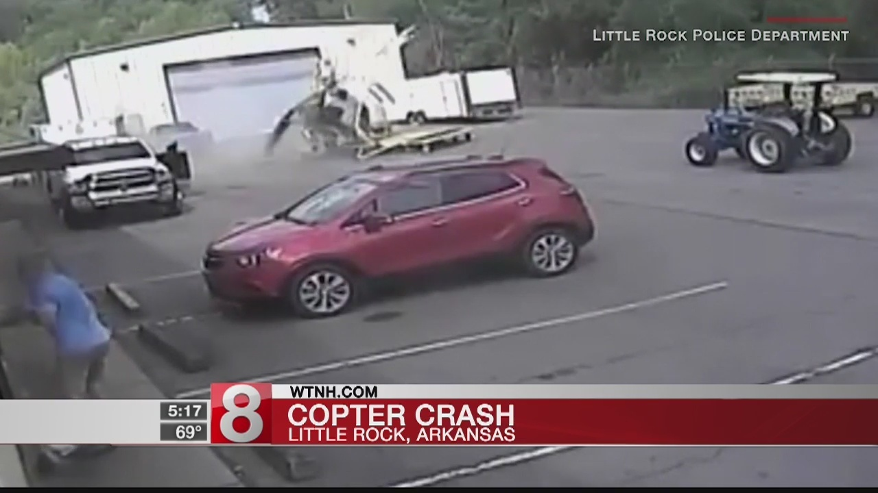 Video shows crash of police helicopter in Arkansas