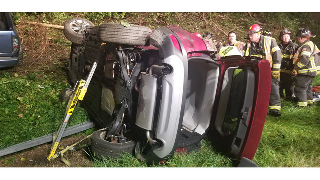 Woman extricated from vehicle after crash in Bethel