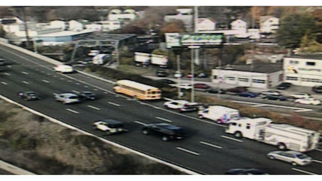 School bus involved in crash on I-91 south in New Haven