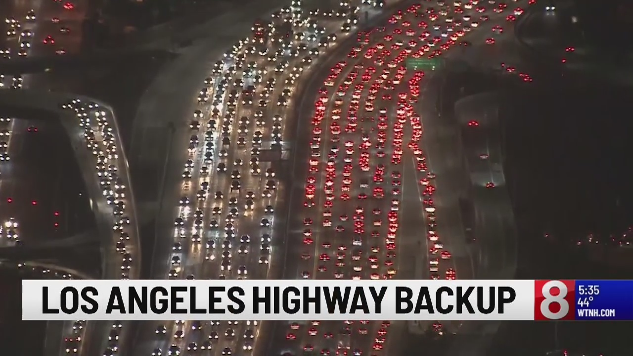 Massive Traffic Backups In California As Thanksgiving Travel Continues