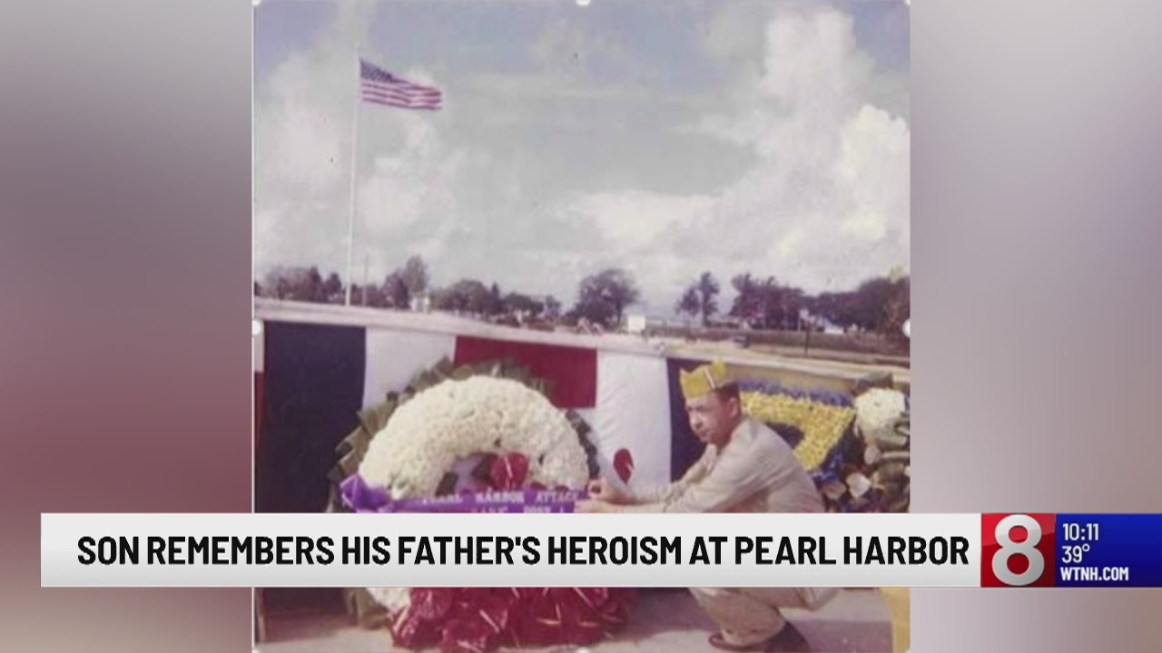 Glastonbury man reflects on father's heroism at Pearl Harbor