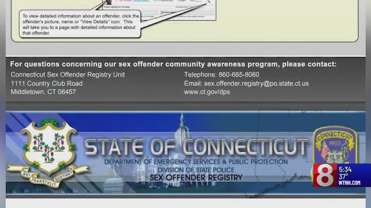 Proposed changes connecticut sex offender registry