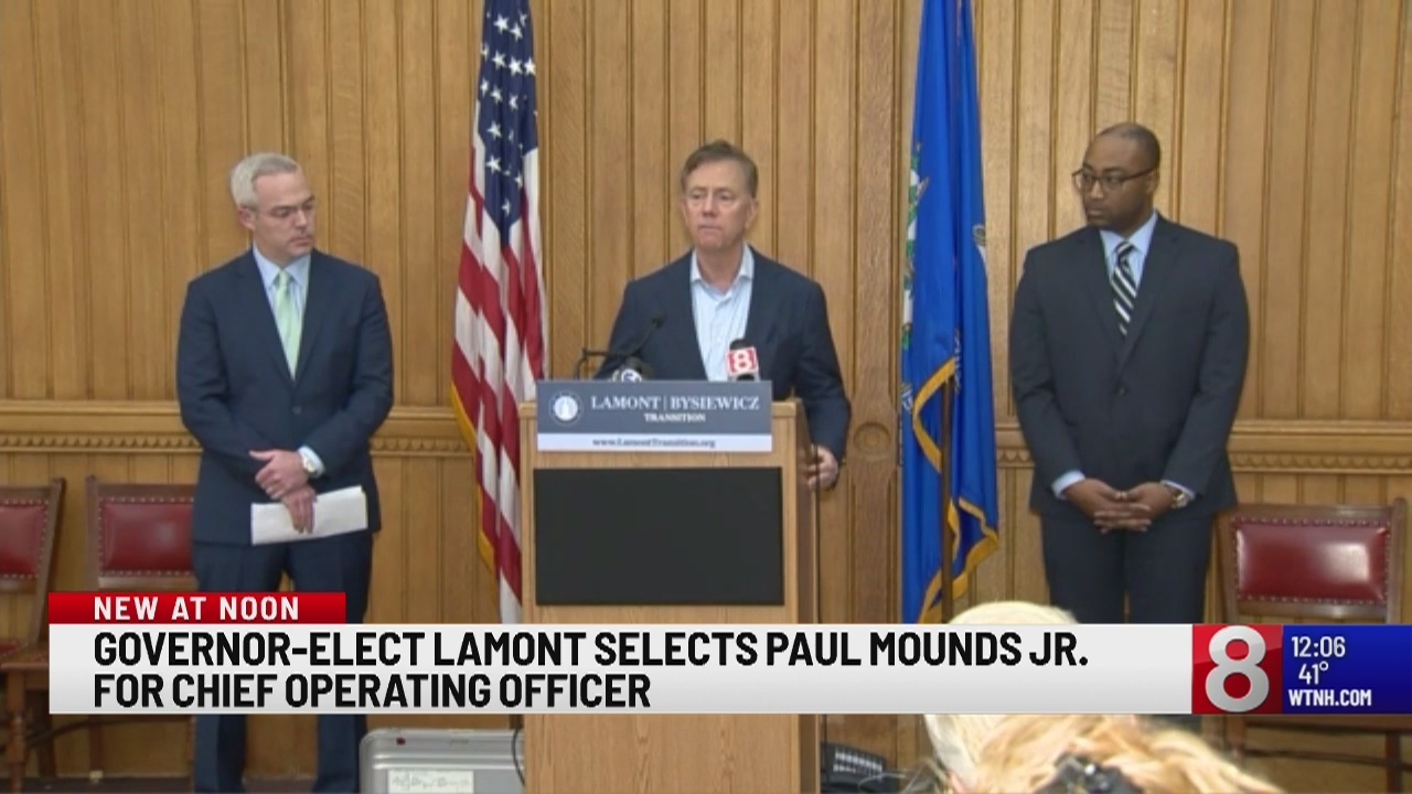 Governor-Elect Lamont selects Glastonbury man as his Chief Operating Officer