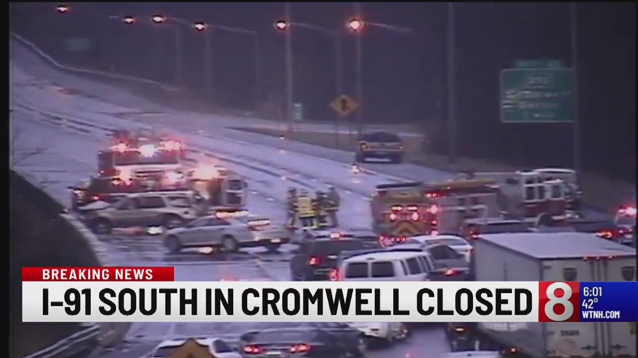 Crash Closes Portion Of Interstate 91 Southbound In Cromwell