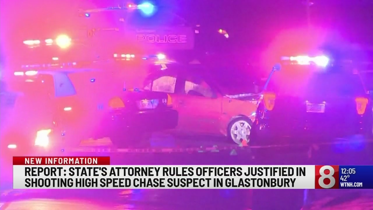 Police justified in fatal shooting after high-speed chase