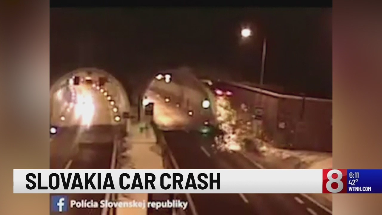 Caught On Camera Bmw Slams Airborne Into Tunnel