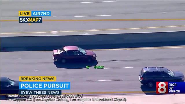 A dangerous high speed chase in San Diego was caught on live TV