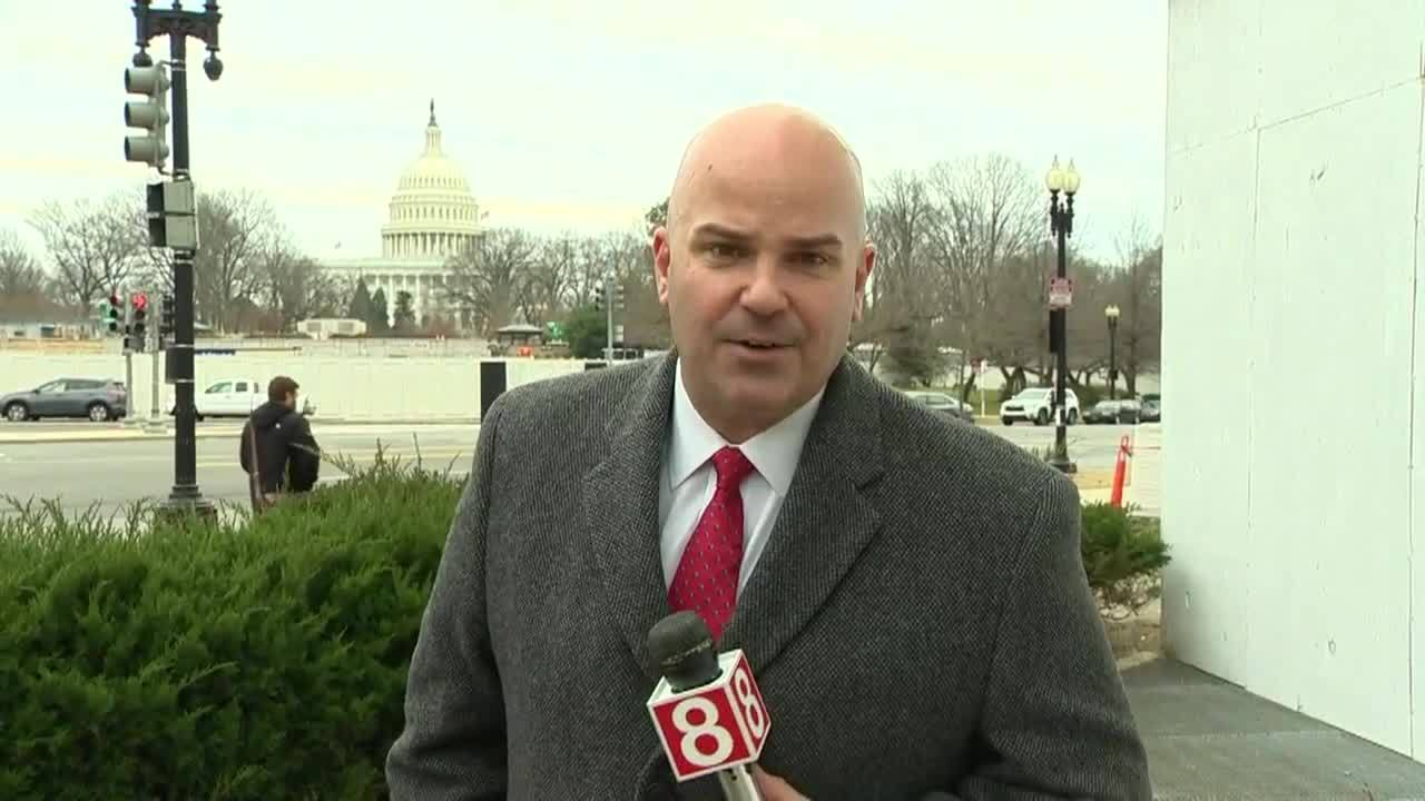 News 8's George Colli is live in Washington DC with a look ahead to
