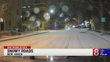 Slick road conditions for some parts of the state