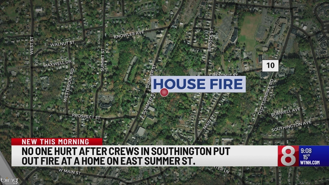 Fire Breaks Out Overnight In Southington Home