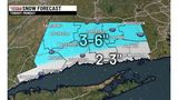 Wintry weather across Connecticut, snow tapering off Monday morning