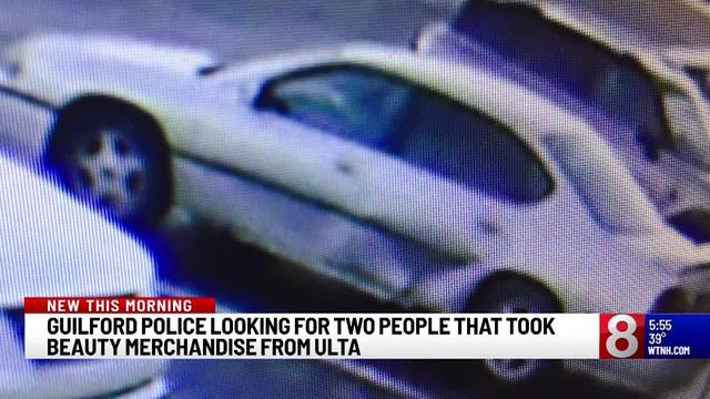 Guilford police search for 2 wanted in Ulta theft