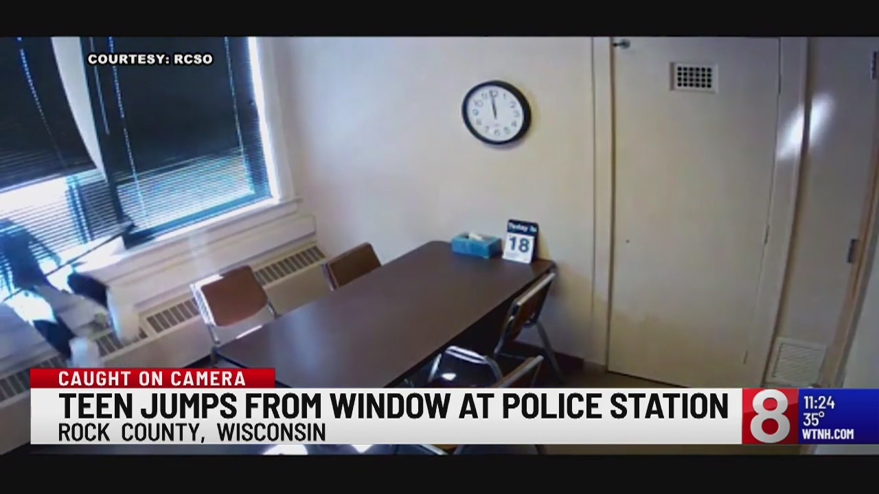Teen jumps from window at police station in Wisconsin