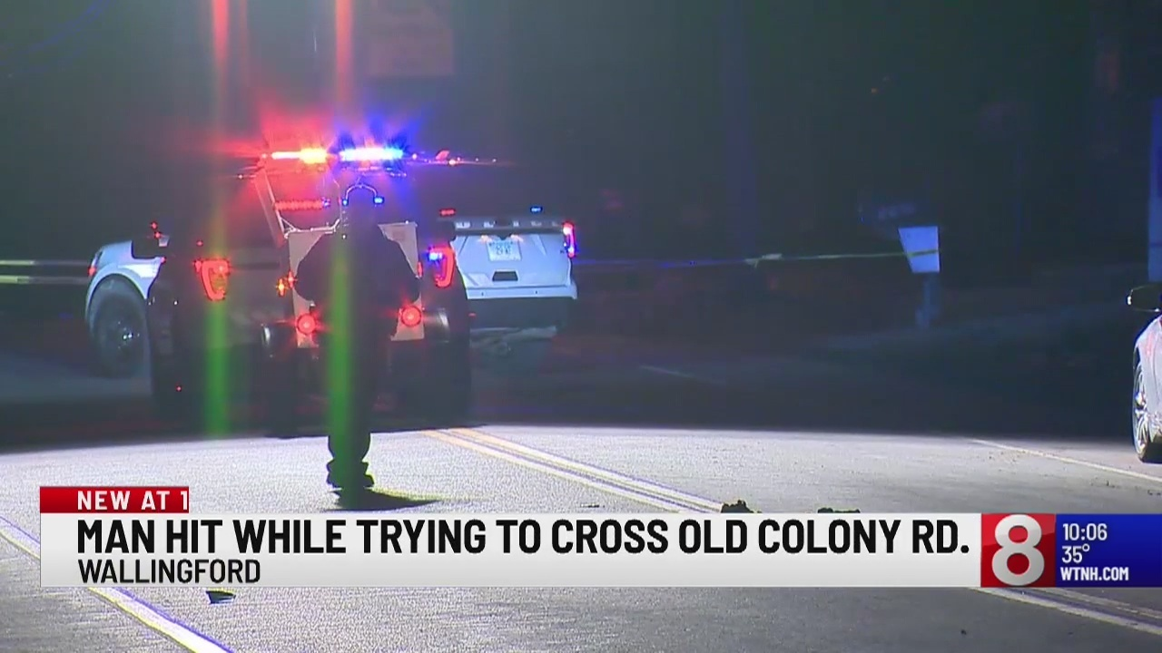 Wallingford police respond to a pedestrian struck by a car incident