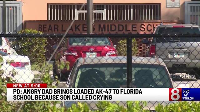9decc8a6 Angry dad brings loaded AK-47 to Florida school because son called crying,  police say