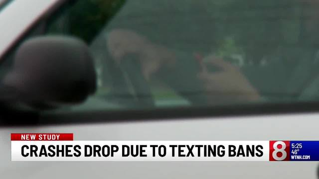 Study: Number of car crashes dropped due to texting ban