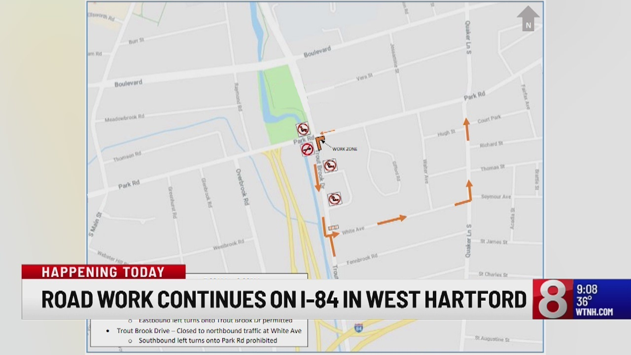 The Hartford At Work >> Road Work To Begin On Interstate 84 Off Exit 43 In West Hartford