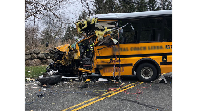 PD: 10 injured in Greenwich 2-bus crash in 'good to fair condition'