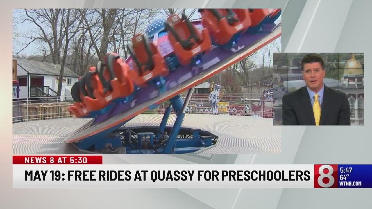 Middlebury Quassy Amusement Park is giving free rides to preschoolers