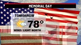 Skies to clear overnight, more beautiful weather for Memorial Day