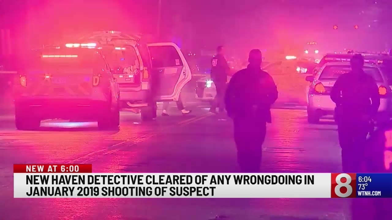 New Haven detective cleared of any wrongdoing in January 2019 shooting of  suspect