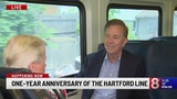 Connecticut officials gather, ride train for 1 year anniversary of Hartford Line